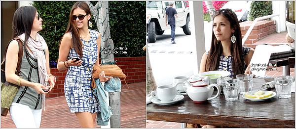 26/04 : Notre belle Nina a été vu allant dejeuner chez Fred Segal avec des amis à West Hollywood.