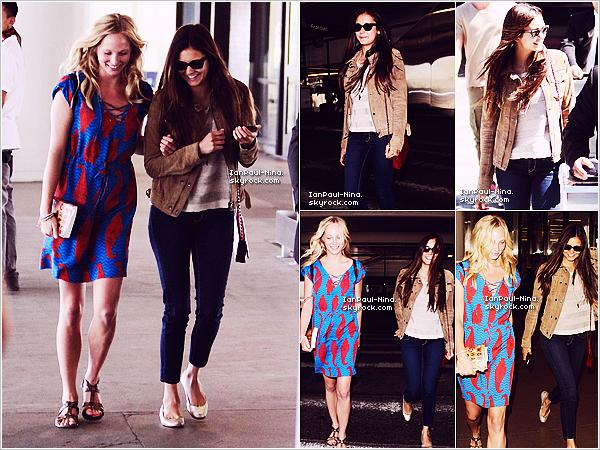 . Le 6 Juillet 2012 : Nina a été vu arrivant avec ses co-stars Claire Holt et Candice Accola à l'aéroport de Los Angeles..