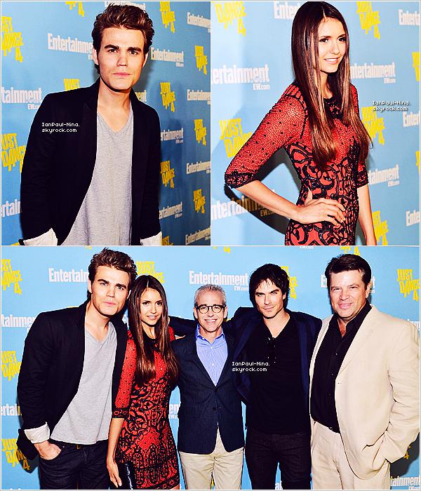 .  Le 14 Juillet 2012 Paul, Nina, Ian et le reste du cast étaient au ''Comic-Con'' de San Diego. .