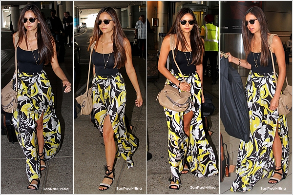 . 07/09 : Nina a été aperçu arrivant à l'aéroport de Toronto au Canada..