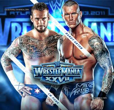 Randy Orton vs CM Punk WWE WrestleMania Match