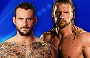 Match en simple Cm Punk vs Triple H