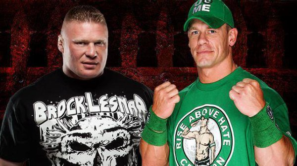 Match en simple : Brock Lesnar vs John Cena