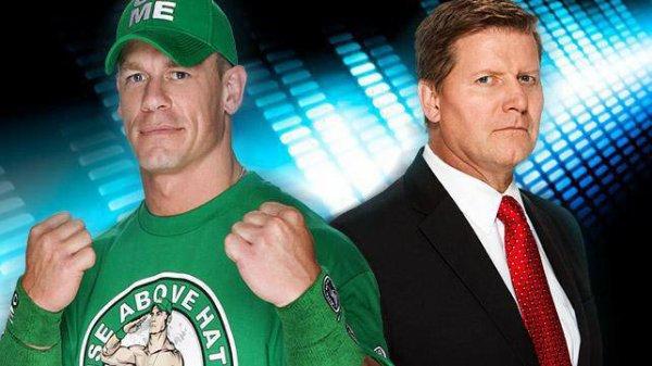 Match en simple : John Cena vs John Laurinaitis