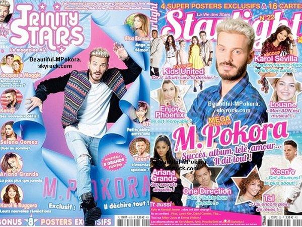 M Pokora dans des magazines