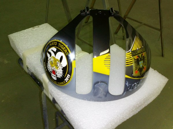 cimier  casque pilote de chasse pour mon ami Dodi