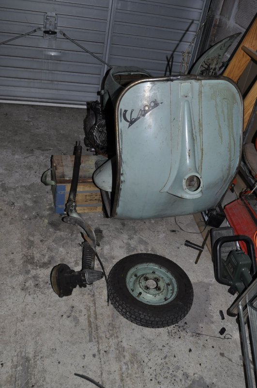 restauration d'un Vespa 125 Type N