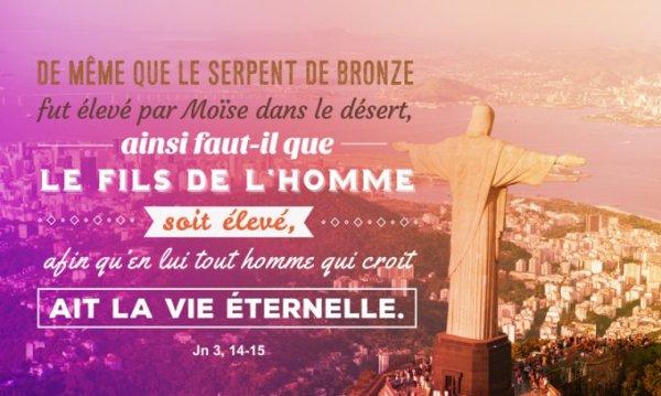 JEUDI 14 SEPTEMBRE 2017  Évangile: Jean (3, 13-17)