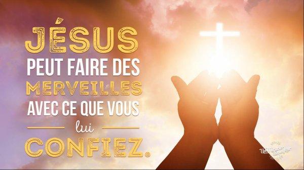 Remettez tout à Jésus !