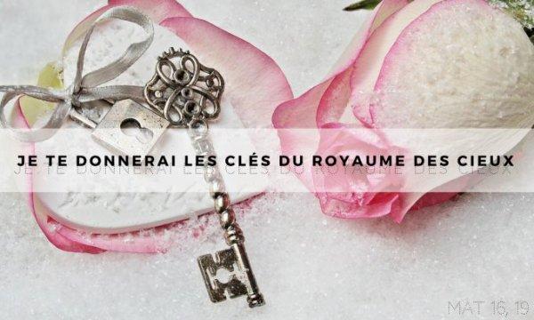ÉVANGILE DU JEUDI 22 FÉVRIER 2019 « Tu es Pierre, et je te donnerai les clés du royaume des Cieux » (Mt 16, 13-19)