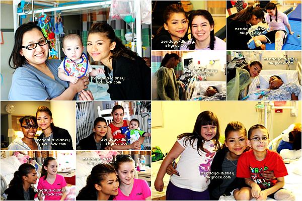 Zendaya est aller voir des enfant malade à l'hôpital le 4 mai 2014