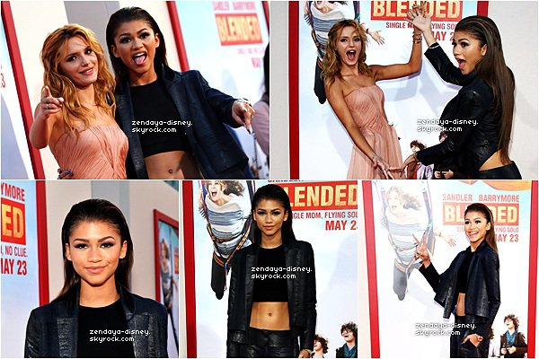 21/05/2014 : Zendaya était présente à l'avant-première du film « Blended » avec Bella Thorne à Hollywood.