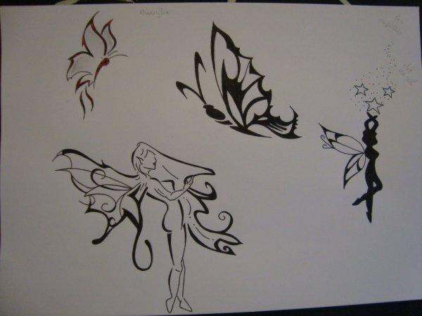 Dessin tattoo f e papillon justyle - Dessin de petit papillon ...