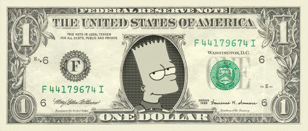 Le dollar Bart Simpson