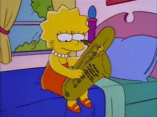 Lisa et son saxo