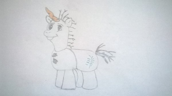 Olaf en mode my little pony