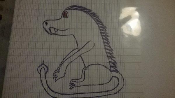 Petit dragon fait en cours ^^