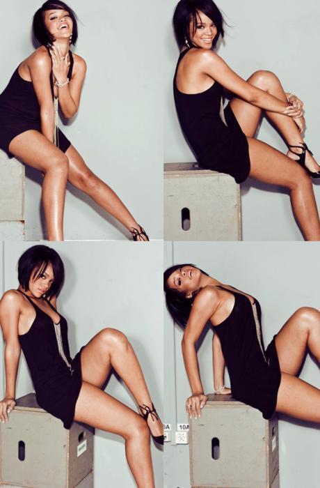 Rihanna fresh off the runway