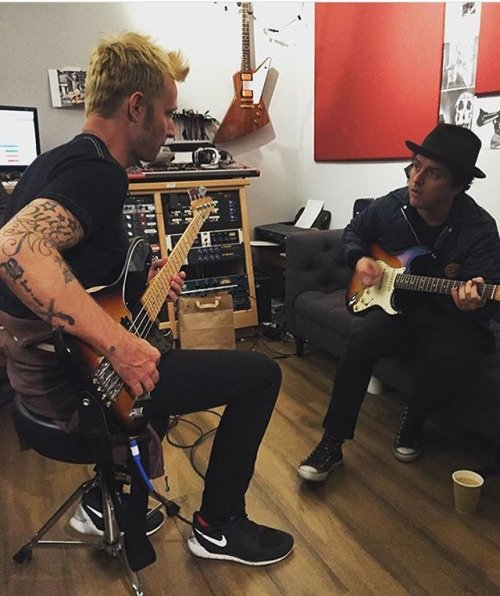 Mike et Billie Joe en studio