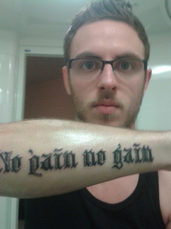 Tatouage fait