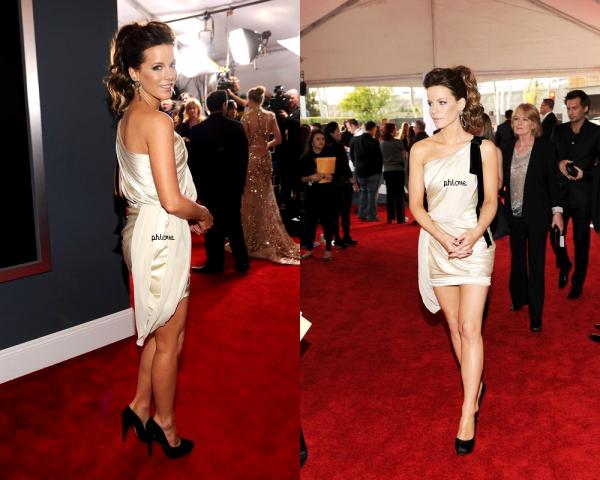Kate beckinsale présente au Grammys Awards 2012