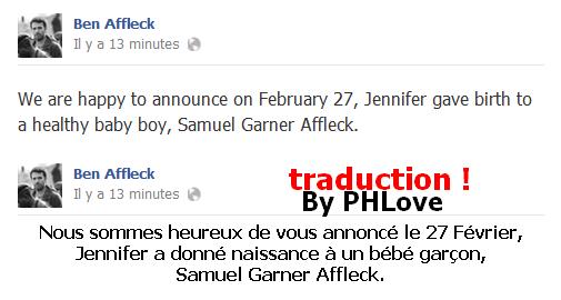 Jennifer Garner à enfin accouché !