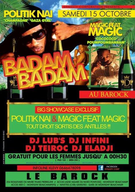 badammm Badammm 15 octobre au BAROCK!!!