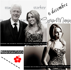 Nouveau shoot de Miley : Starkey Foundation ; 6 décembre + Backstage ; 4 décembre.