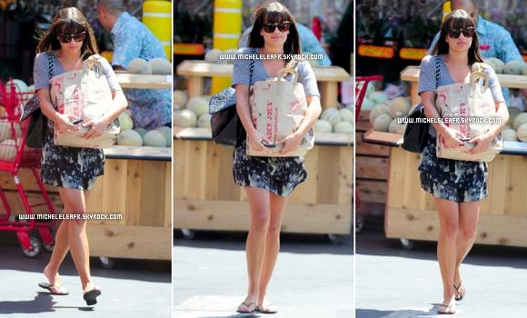 . Flashback    01/09/11 Lea, à été repérée faisant quelques achats d'épicerie.Lea très souriante, comme a son habitude, avec son sac bien remplis, elle rayonne, TOP selon moi..