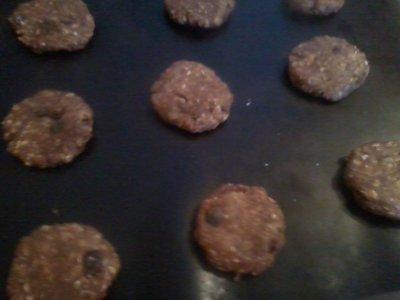 LES COOKIES CHOCOLAT/CACAHUÈTES SANS FARINE