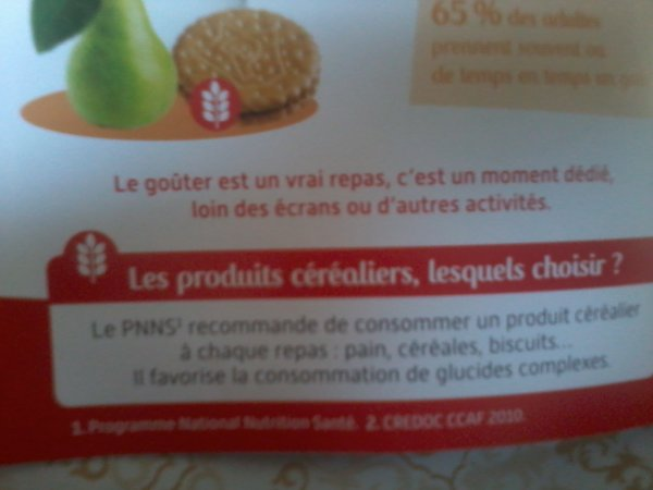 COURS DE NUTRITION DONNÉS À VOS ENFANTS...PAR VOS MARQUES DE BISCUITS PRÉFÉRÉS !!!