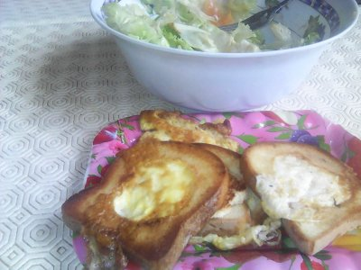 LES TOASTS D'OEUFS