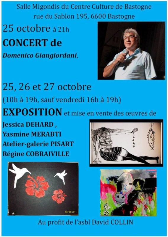 Concert de Domenico, Bastogne, 25 octobre 2013