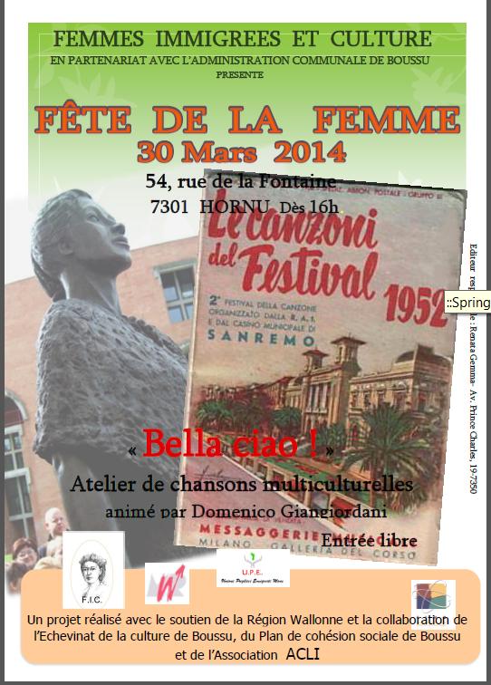 Fête de la Femme, 30/03/2014 à Hornu!