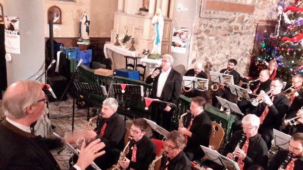 Concert de Noël du J B Band de Baudour à Villers-Sire-Nicole, le 19 décembre 2015
