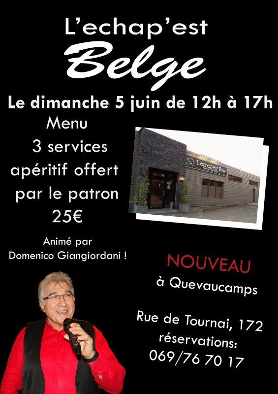 """Quevaucamps, """"L'echap' est Belge, 5 juin 2016"""