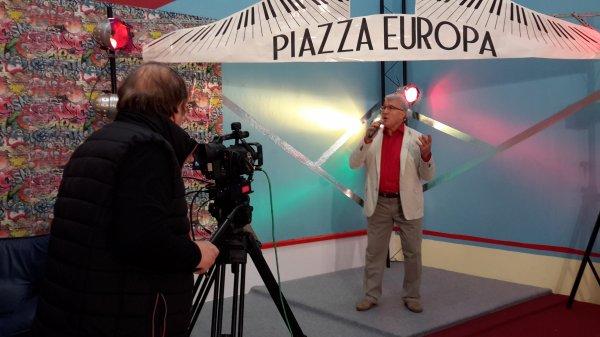 """Domenico à la télévision allemande """"RTE Televisione, OKTV"""", dans l'émission """"Piazza Europa"""", 15 mars 2016"""