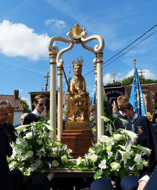 Villers-Notre-Dame, Procession et bénédiction, 15 août 2016