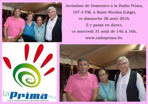 Saint-Nicolas (Liège), Radio Prima, 28 août 2016