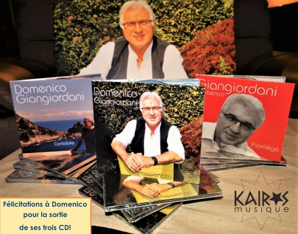 Félicitations à Domenico pour la sortie de ses trois CD!