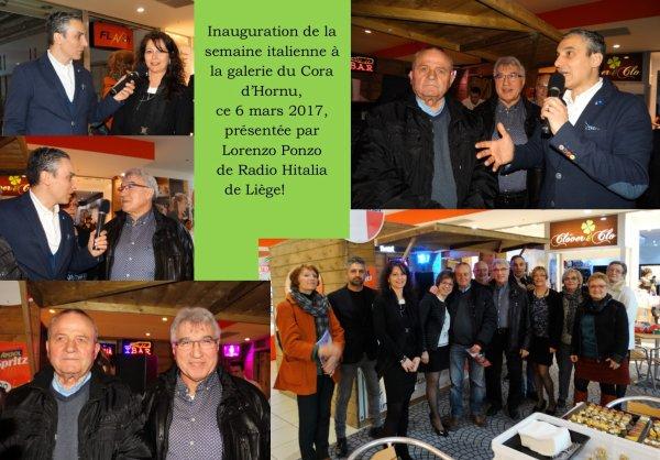 Hornu, Galerie du Cora, inauguration de la semaine italienne, 6 mars 2017