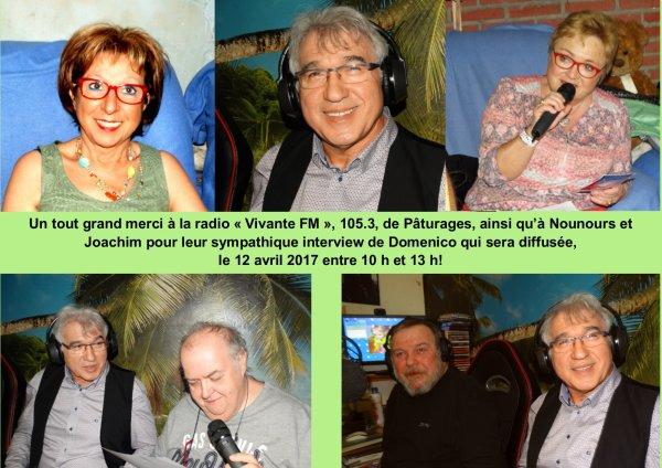 """Pâturages, Radio """"Vivante FM"""", 5 avril 2017"""