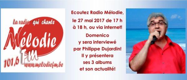 Nivelles, Radio Mélodie FM, 27 mai 2017 à 17 h