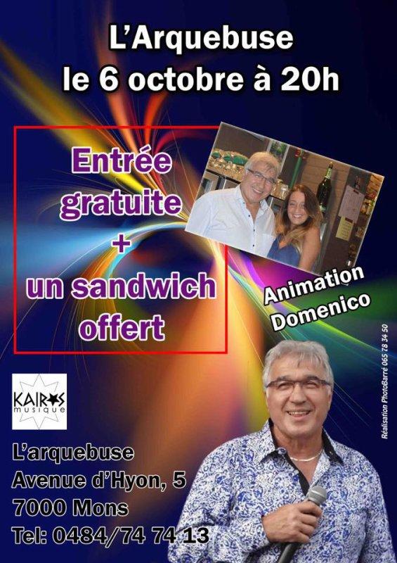 Mons, l'Arquebuse, 6 octobre 2017 à 20 h