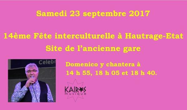 Hautrage-Etat, Fête interculturelle, 23 septembre 2017