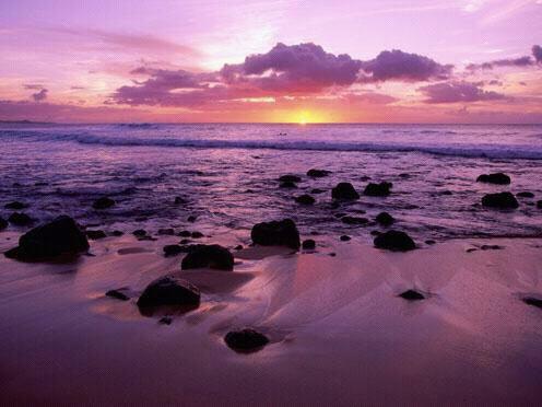 Un magnifique et romantique coucher de soleil...