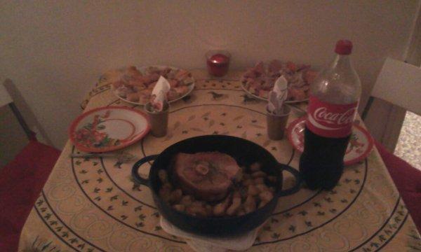 Petit repas de Noël en tête-à-tête avec mon Petit loup