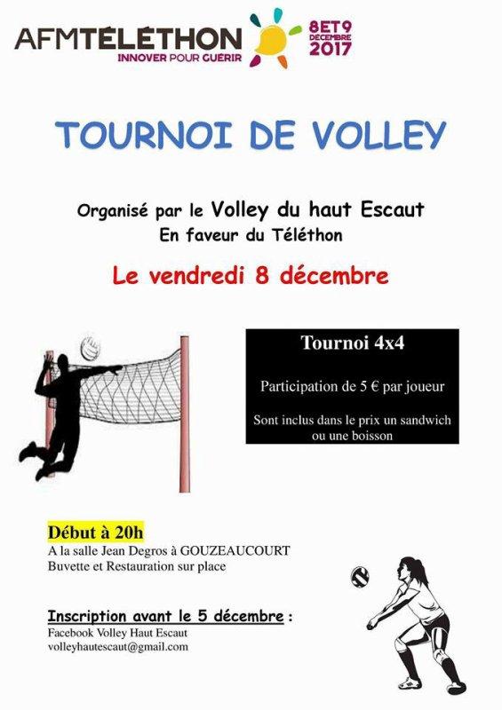 Tournoi à Gouzeaucourt pour le Téléthon 2017