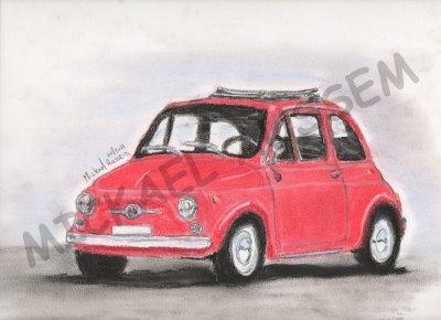"""ABARTH FIAT 500 CRAIE PASTEL """"27.01.2011"""""""