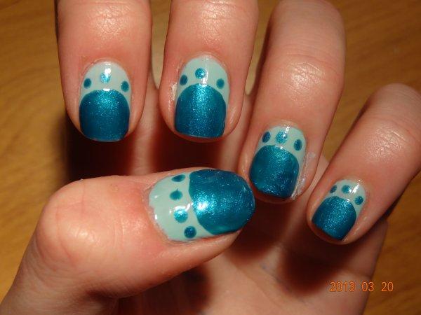 Nail Art - Tons bleuus